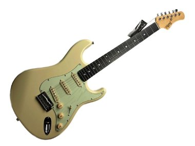 Guitarra tagima t635 Branca escala escura escudo mint green