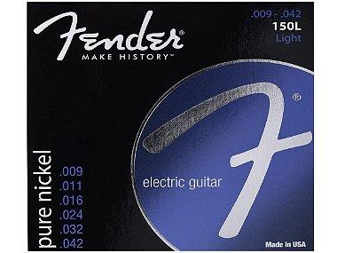 Encordoamento para Guitarra Aço 0.009 150XL Niquelada FENDER