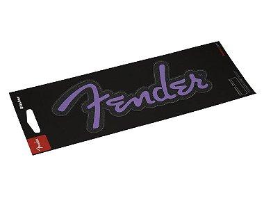 Adesivo Brilhante Logo Púrpura FENDER