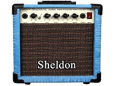 Amplificador Para Violão Sheldon Vl2800 azul 15w