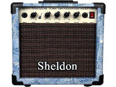 Amplificador Para Violão Sheldon Vl2800 Jeans 15w