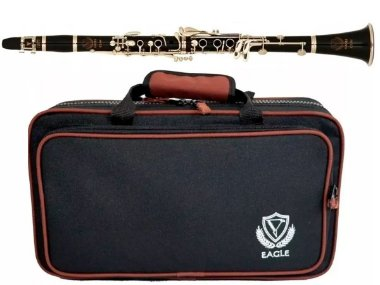 Clarinete Eagle Cl04n Sib Niquelado 17 Chaves Case Luxo