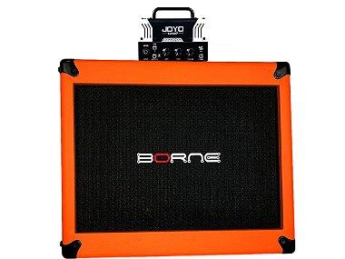 cabeçote joyo vivo Peavey 5150 caixa borne laranja orange 12
