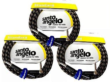 3 Cabos Santo Angelo Textil 3,5 Metros P10 X P10 90 Plug L