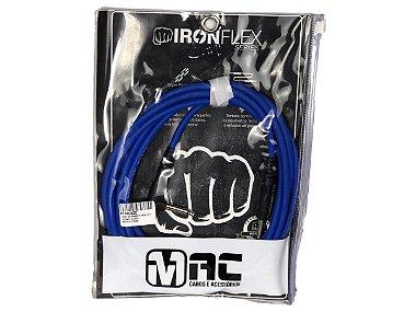 Cabo Mac Cabos Iron Flex 3 mt P10 90 plug L azul escuro
