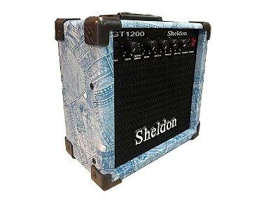 Amplificador Caixa Cubo Guitarra Sheldon Gt1200 15w Jeans