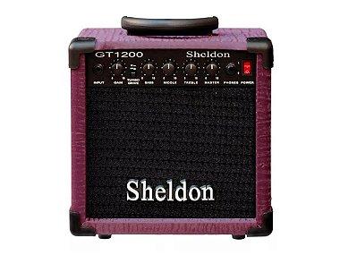 Amplificador Caixa Cubo Guitarra Sheldon Gt1200 15w Roxo