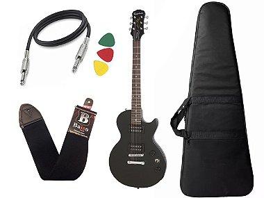 Guitarra les paul Epiphone Special VE Preto Vintage + Capa Cabo