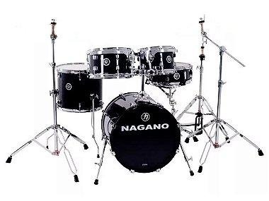 Bateria Nagano Garage Gig Bumbo 18 10 12 13 14 ebony sparkle preto