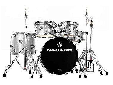 Bateria Nagano Garage Gig Bumbo 18 10 12 13 14 grey sparkle prata