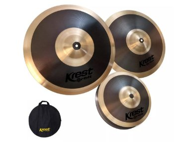 Set jogo de Pratos Krest Orbit bronze b8 14 16 20 bag
