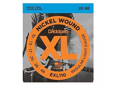 Encordoamento Daddario guitarra 010 Exl110 nickel original NF