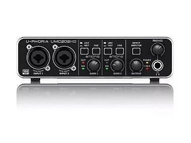 Interface De Áudio Behringer Usb Umc202hd