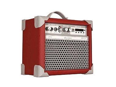 Caixa Amplificada Multiuso Up!5 Vermelho Fm/usb/bluetooth