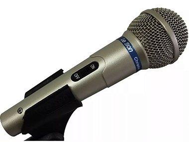 Microfone Leson Mc200 Dinâmico Com Cabo Cor Champanhe