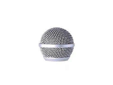 Globo De Microfone Prata Para Reposição Leson Gb58
