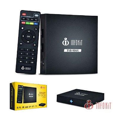 SMART TV BOX QUAD - CORE 2GB DE RAM 16GB FLASH 4K ANDROID 6.0.1 CORTEX - A5 TVB - 906X