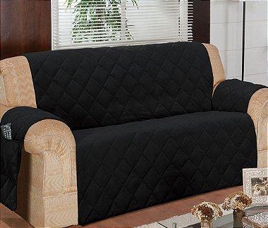 Protetor Para Sofá De 03 Lugares Com Assento De 1,40m Matelado Microfibra Lú Red Berry