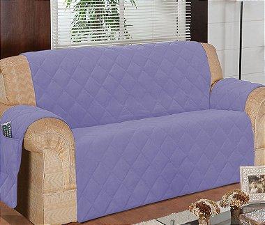 Protetor Para Sofá De 03 Lugares Com Assento De 1,50m Matelado Microfibra Lú Red Berry