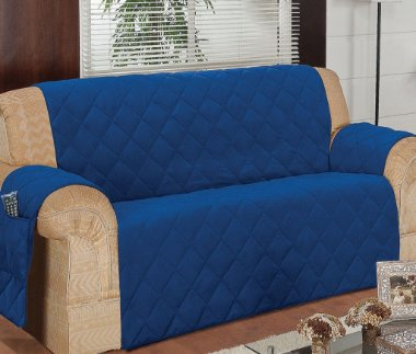 Protetor Para Sofá De 04 Lugares Com Assento De 2,60m Matelado Microfibra Lú Red Berry