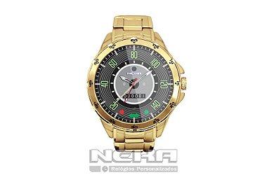 Relógio Masculino Dourado Painel Velocímetro Fusca 140km 5776