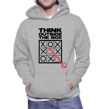 Moletom Masculino Pense Fora Da Caixa Nerd Geek Frase Inteligente Criativa - Moletons Personalizados Blusa / Casacos Baratos / Blusão / Jaqueta Canguru