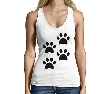 Camiseta Regata Feminina Lover Pet 4 Patas Engraçadas Divertidas - Personalizadas / Customizadas / Camiseteria / Camisa T - shirts Baratas Modelos Legais Loja Online