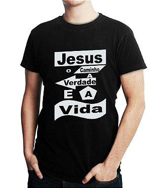 Camiseta Masculina Gospel Cristã Jesus Vida Religiosas Evangélicas - Personalizadas / Customizadas / Estampadas / Camiseteria / Estamparia / Estampar / Personalizar / Customizar / Criar / Camisa Blusas Baratas Modelos Legais Loja Online