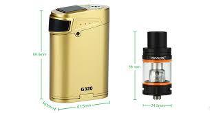 Kit Cigarro Eletrônico G320 Marshal 220W/320W CT Smok características
