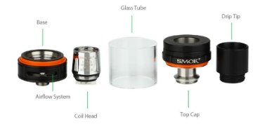 Kit Cigarro Eletrônico G320 Marshal 220W/320W CT Smok atomizador