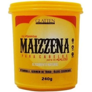 Glatten Maizzena para Cabelos Alisamento Natural 240g