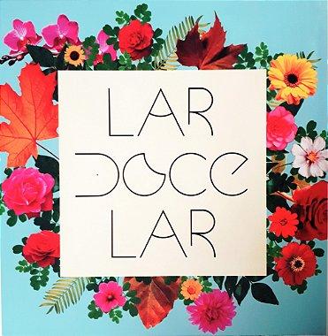 Placa Floral Lar Doce Lar - 21x21cm