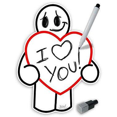 Lousa Magnética Love - caneta com apagador