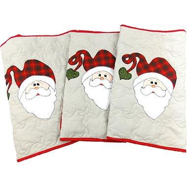 Jogo de Tapetes para Cozinha Decoração de Natal Papai Noel