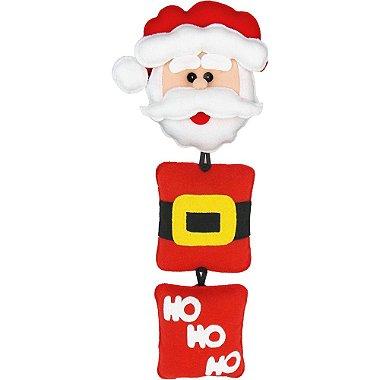 Enfeite de Porta em Feltro Decoração de Natal Papai Noel