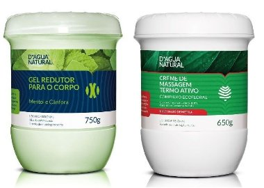 D ´ agua Natural Kit Gel Redutor + Creme Termo Ativo Ecofloral
