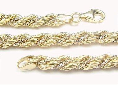 Pulseira feminina Trancilin Corda Ouro 18k