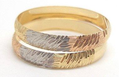 Anéis Aparadores Aliança Ouro 18k 3 Tons