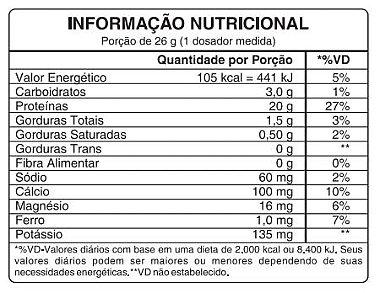 Tabela Nutricional Syngex VPX