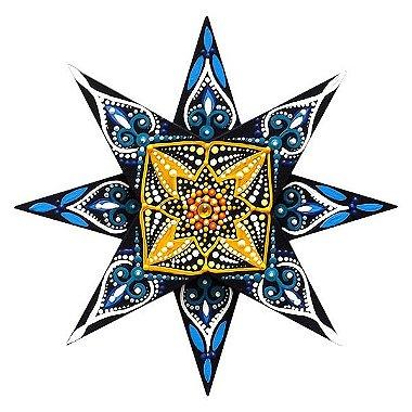 Mandala Sol Colorida 16cm