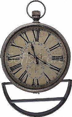 Relógio de Parede com Prateleira Removível em Metal - Oldway