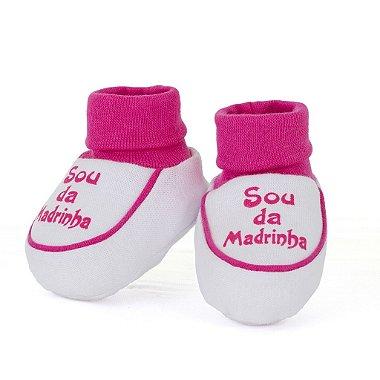 Sapatinho + Babador Sou da Madrinha Rosa Pink