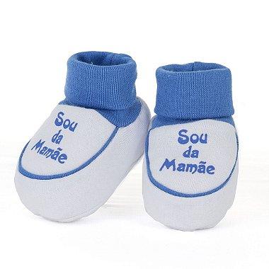 Sapatinho + Babador Sou da Mamãe Azul
