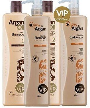 Escova Progressiva Vip Argan Oil com Kit Lavatório Ojon Oil New Vip