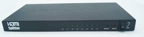 Splitter Distribuidor Divisor Hdmi 1x8 Ver. 1.4 3d 8 Saidas