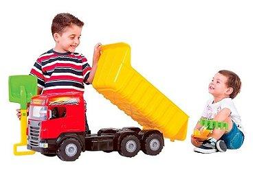 Caminhão Super Big Caçamba Vermelho 5050 - Magic Toys