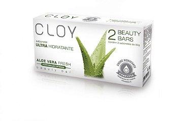 Sabonete Hidratante Cloy 2 Barras Aloe Vera Fresh 80g