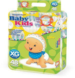 Fralda Infantil Descartável Baby Kids - XG - 48 unidades