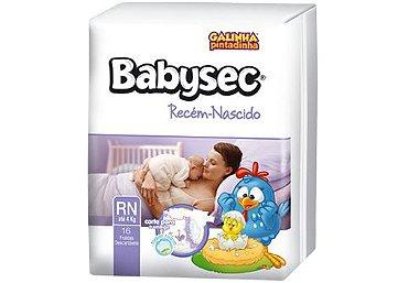 Fralda Descartável Infantil Babysec Recém - Nascido - 20 unidades