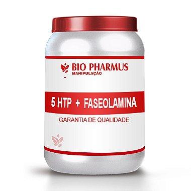 Emagrecedor Bio Pharmus 1 Frasco de 5 HTP 50mg + 1 Frasco de Faseolamina 500mg C 60 Cápsulas